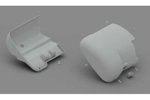REAR+FRONT COVER MOTORKIT F65 S TIT