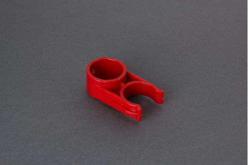 RED PLASTIC CLIP 30MM CARRY-BIKE