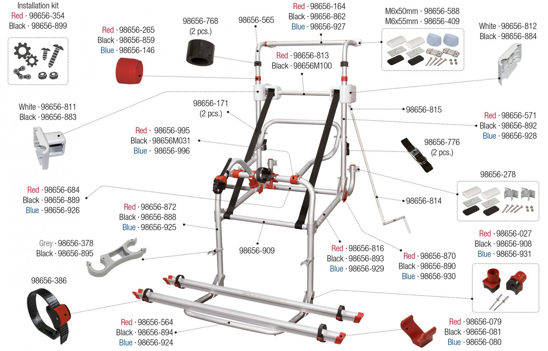 Carry-Bike Lift 77 (02093B43- / 02093B43A / 02093B43B)